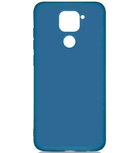 Чехол силиконовый DF для Xiaomi Redmi Note 9 (blue)