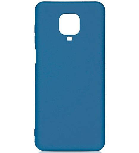 Чехол силиконовый DF с микрофиброй для Xiaomi Redmi Note 9S/9 Pro/9 Pro Max (blue)