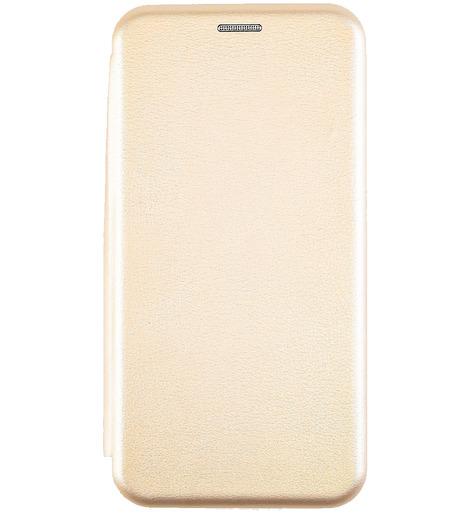 Чехол-книга для Samsung M21 (2020)/отдел под пластик.карту,силикон/ золото