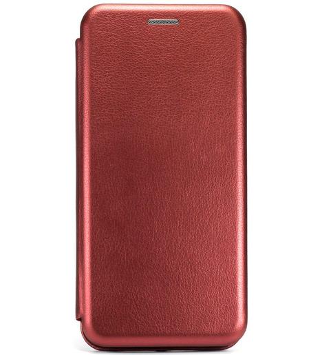Чехол-книга с загнутыми краями Xiaomi RedMi Note 9S/Note 9 Pro 2020 (бордовый)
