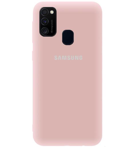 Чехол однотонный для Samsung M21/M30S 2020 пудровый