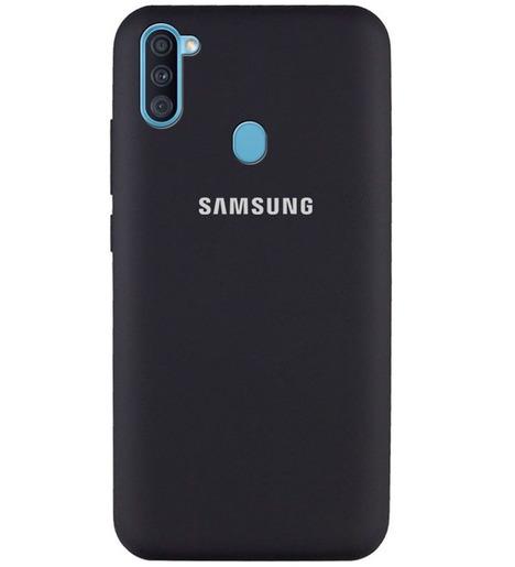 Чехол Silicone case для Samsung M11/A11 2020 черный