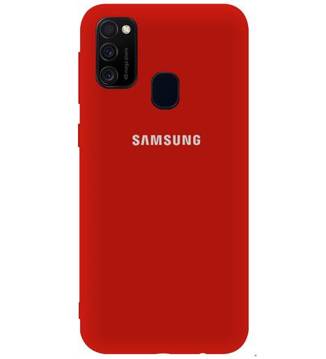 Чехол однотонный для Samsung M21/M215f/M30S бордовый