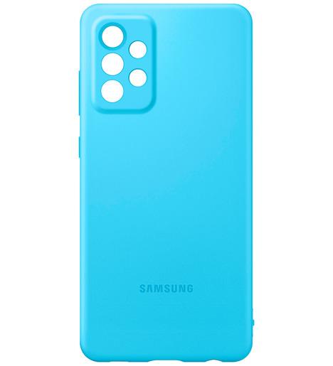 Чехол (клип-кейс) Silicone Cover для Samsung Galaxy А72 синий (EF-PA725TLEGRU)