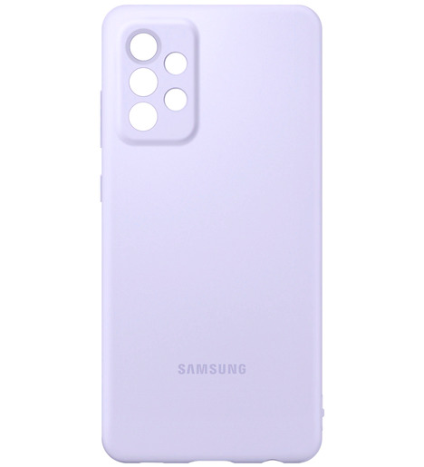 Чехол (клип-кейс) Silicone Cover для Samsung Galaxy А72 фиолетовый (EF-PA725TVEGRU)
