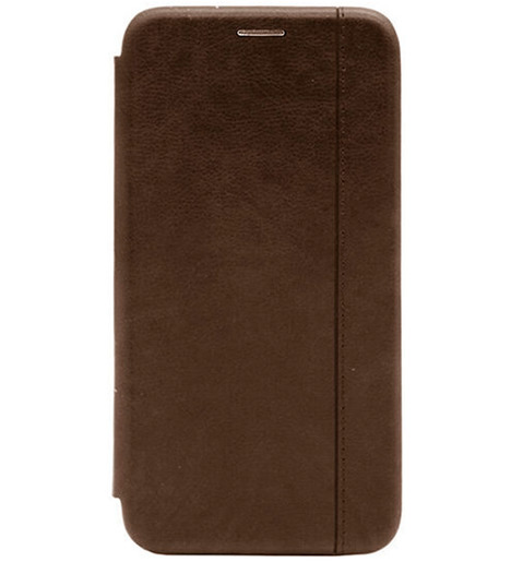 Чехол-книга с загнутыми краями Xiaomi RedMi Note 9S/Note 9 Pro 2020 (brown)