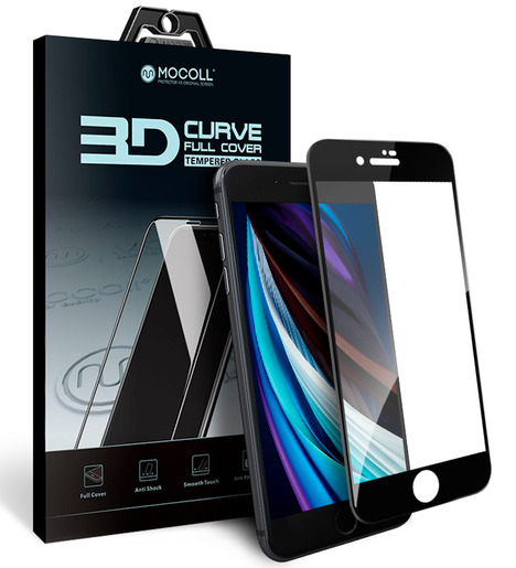 Защитное стекло Mocoll для iPhone 7 Plus/iPhone 8 Plus 3D Черный