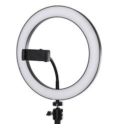 Кольцевая LED лампа (36см)+держатель для телефона+штатив 1.9м