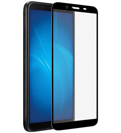 Защитное стекло DF для Samsung Galaxy A01 Core (black)