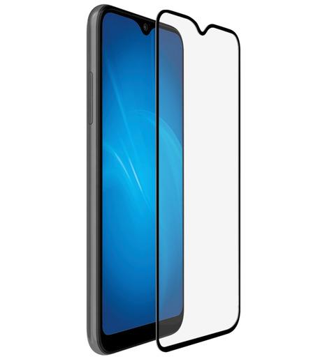 Защитное стекло DF для Samsung Galaxy A01/M01 (black)