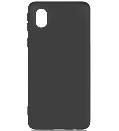 Чехол силиконовый DF для Samsung Galaxy A01 Core (black)