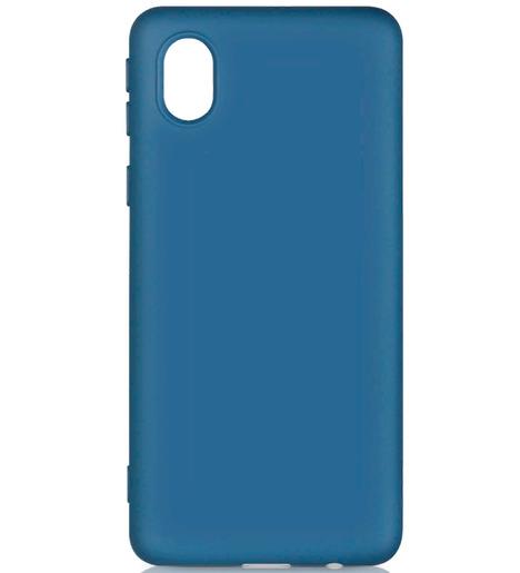 Чехол силиконовый DF для Samsung Galaxy A01 Core (blue)