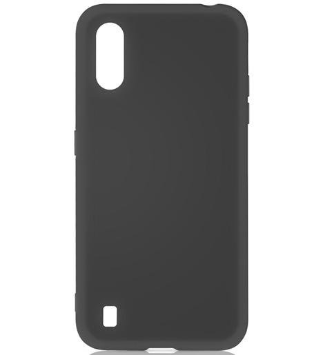 Чехол силиконовый DF для Samsung Galaxy A01 (black)