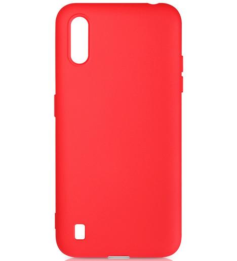 Чехол силиконовый DF для Samsung Galaxy A01 (red)