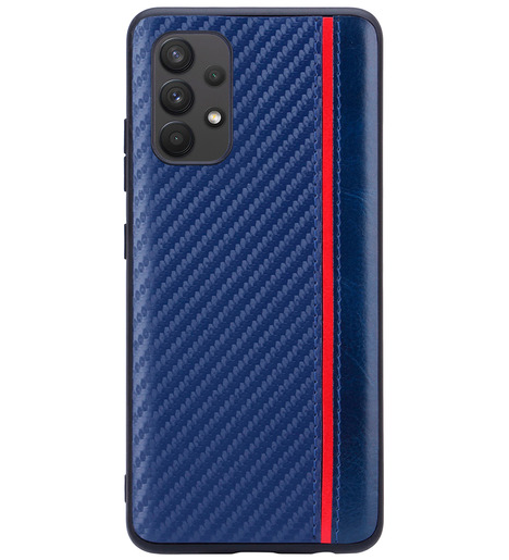 Чехол накладка G-Case Carbon для Samsung Galaxy A32 (4G) SM-A325F, синий