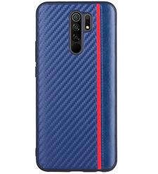 Чехол накладка G-Case Carbon для Xiaomi Redmi 9, синий