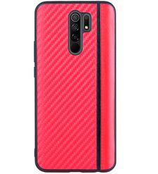 Чехол накладка G-Case Carbon для Xiaomi Redmi 9, красный