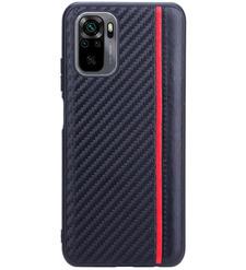 Чехол накладка G-Case Carbon для Xiaomi Redmi Note 10/Note 10S, черный