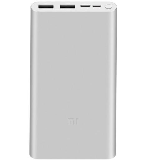 Внешний аккумулятор Xiaomi 3 PLM13ZM 10000 mAh Серебро