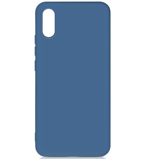 Чехол силиконовый DF для Xiaomi Redmi 9A (blue)