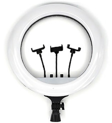 Кольцевая LED лампа (45см)+держатель для телефона+штатив 2.1м с цветными режимами
