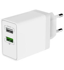 СЗУ OLMIO 2USB, QC3.0+Smart IC, 30W