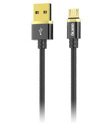 Кабель DELUXE, USB 2.0 - microUSB, 1м, 2.1A, черный, OLMIO