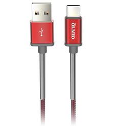 Кабель HD, USB 2.0 - USB Type-C, 1.2м, 2.1A, красный, OLMIO