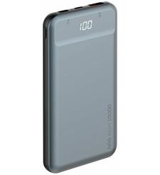Внешний аккумулятор Deppa NRG Alum LCD 10000 mAh, QC 3.0, PD 18W, графит