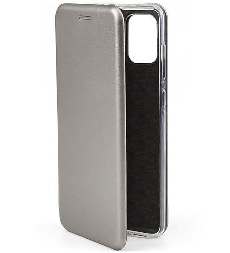 Чехол-книга для Samsung A71 (2020)/отдел под пластик.карту,силикон/ серый