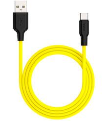 Кабель USB HOCO X21 Plus micro 1м (чёрно-желтый)