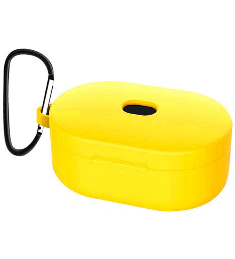 Чехол силиконовый для AirDots Slim + карабин (yellow)