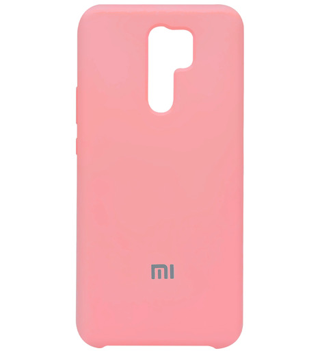Чехол Silicone case для Xiaomi RedMi 9 2020 (rose powder)