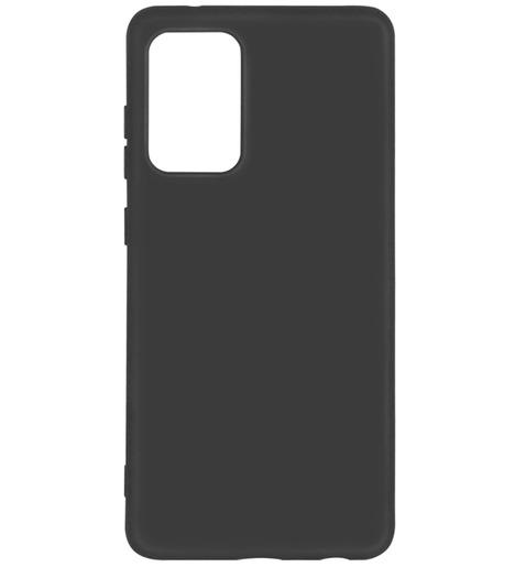 Чехол силиконовый DF с микрофиброй для Samsung Galaxy A72 (black)