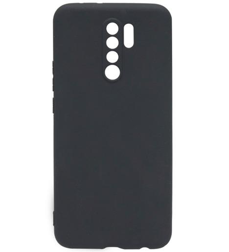 Чехол силиконовый DF для Xiaomi Redmi 9 (black)