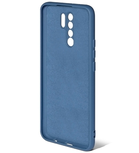 Чехол силиконовый DF для Xiaomi Redmi 9 (blue)