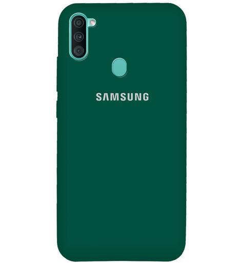 Чехол Silicone case для Samsung M11/A11 2020 армейский зелёный