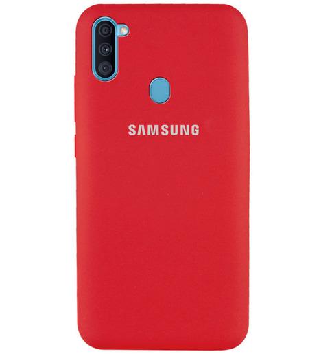 Чехол Silicone case для Samsung M11/A11 2020 бордовый