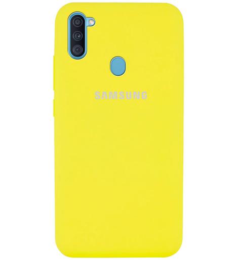 Чехол Silicone case для Samsung M11/A11 2020 жёлтый