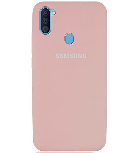 Чехол Silicone case для Samsung M11/A11 2020 пудровый