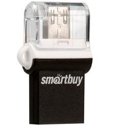 Память USB 32GB Smartbuy Poko OTG чёрный