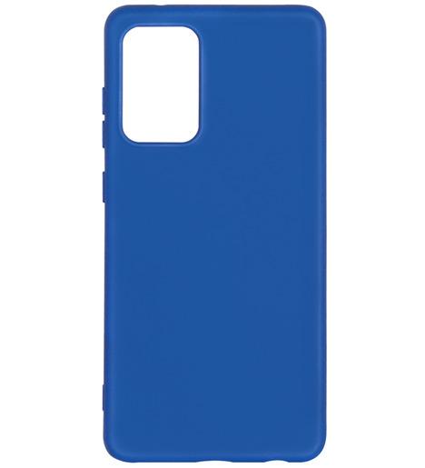 Чехол силиконовый DF с микрофиброй для Samsung Galaxy A72 (blue)