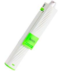 Монопод Hoco K7 Dainty mini wired selfie stick (белый)
