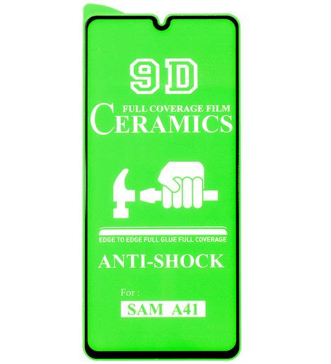 Защитное стекло Ceramic для Samsung A41 чёрный
