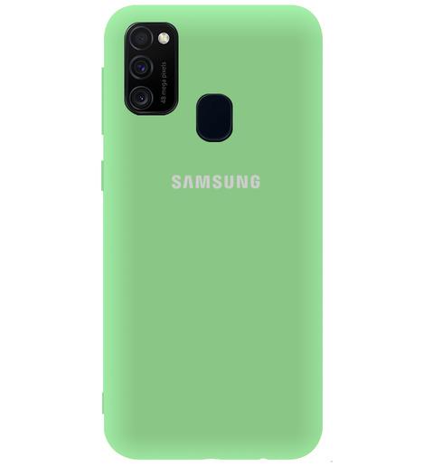 Чехол однотонный для Samsung M21/M215f/M30S (Aquamarine)