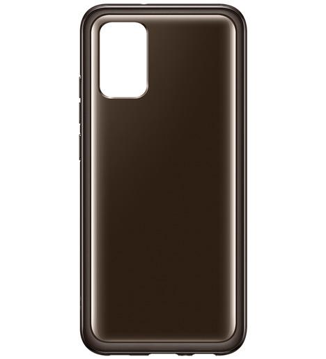 Чехол (клип-кейс) Samsung Galaxy A02s Soft Clear Cover чёрный (EF-QA025TBEGRU)