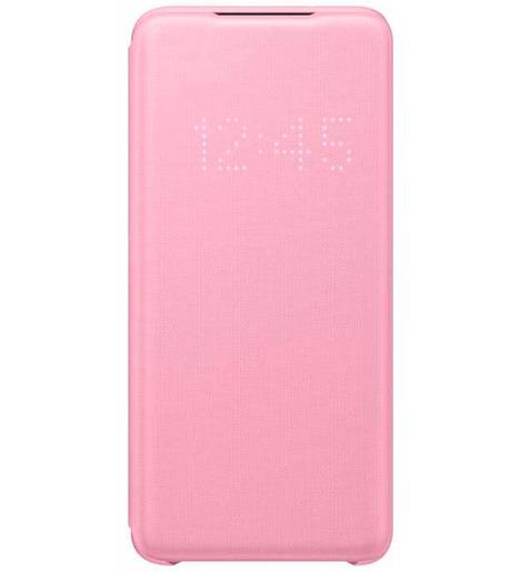 Чехол (флип-кейс) Samsung Galaxy S20 Smart LED View Cover розовый (EF-NG980PPEGRU)