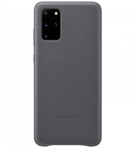 Чехол (клип-кейс) Samsung Galaxy S20+ Leather Cover серый (EF-VG985LJEGRU)