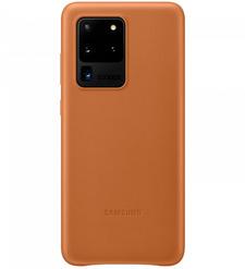 Чехол (клип-кейс) Samsung Galaxy S20 Ultra Leather Cover коричневый (EF-VG988LAEGRU)