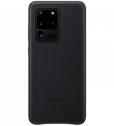 Чехол (клип-кейс) Samsung Galaxy S20 Ultra Leather Cover черный (EF-VG988LBEGRU)